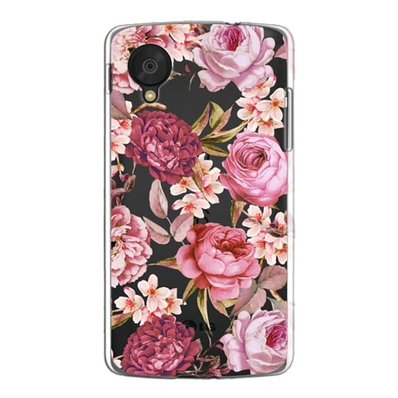 Nexus 5 Cases - Blush Pink Rose Watercolor Chic Illustration Floral Pattern