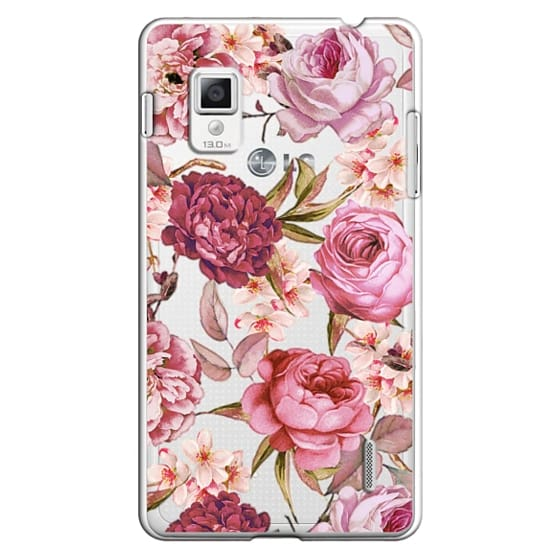 Optimus G Cases - Blush Pink Rose Watercolor Chic Illustration Floral Pattern
