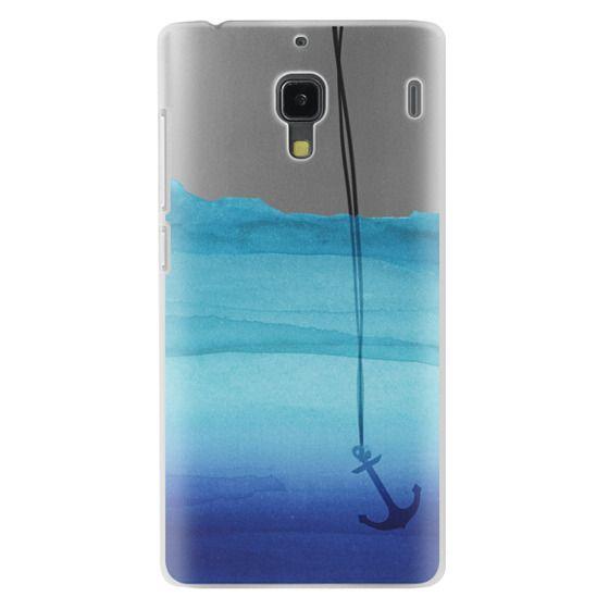 Redmi 1s Cases - Watercolor Ocean Blue Gradient Nautical Anchor on Transparent Background