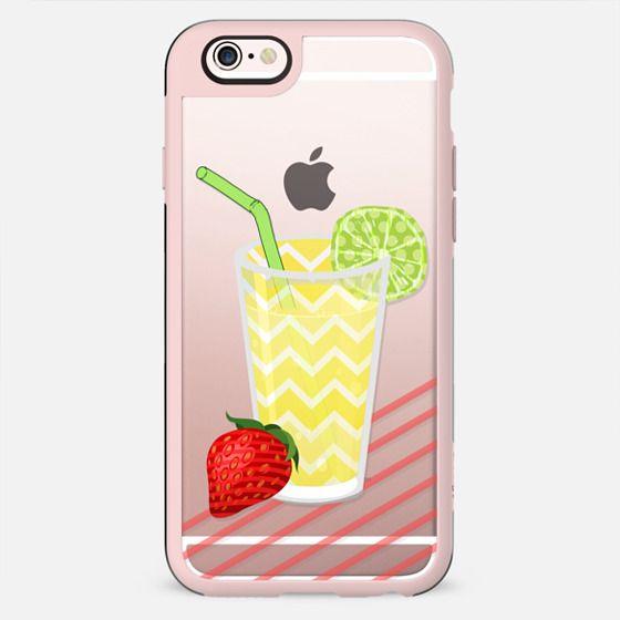 Fruity Summer Strawberry Limeade Juicy Drink- Transparent - New Standard Case