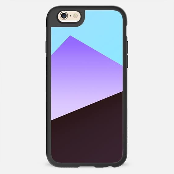 Minimal Simple Blue Purple Black Gradient Triangle Pattern -