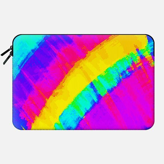 Artistic Abstract Rainbow Summer Brushstrokes -