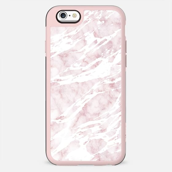 Girly Pink and White Modern Marble - New Standard Case
