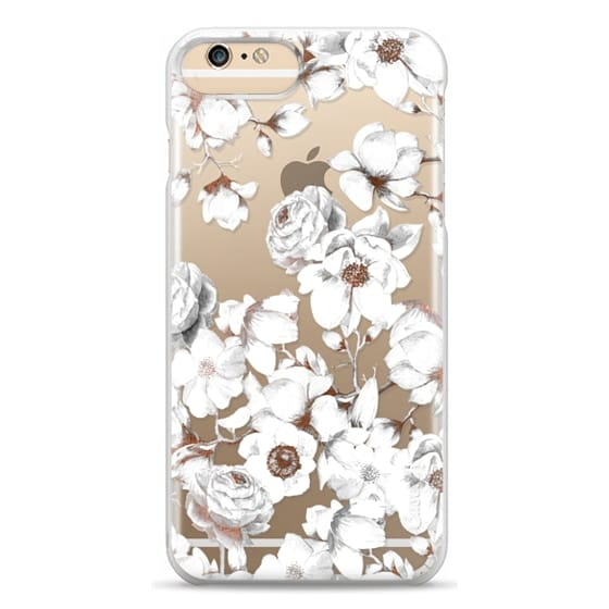iPhone 6 Plus Cases - Trendy Elegant Watercolor White Floral Chic Pattern