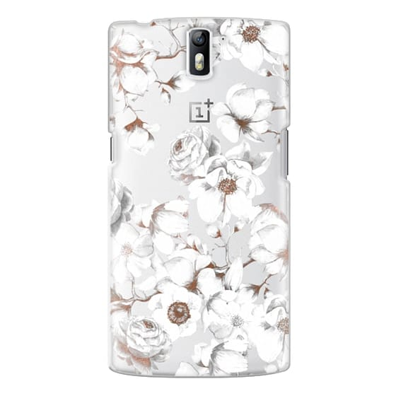 One Plus One Cases - Trendy Elegant Watercolor White Floral Chic Pattern