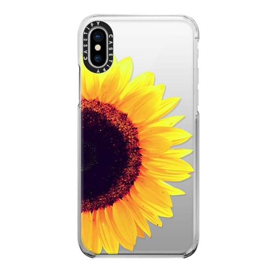 iPhone X Cases - Bright Yellow Summer Sunflower Flowers on Transparent Background