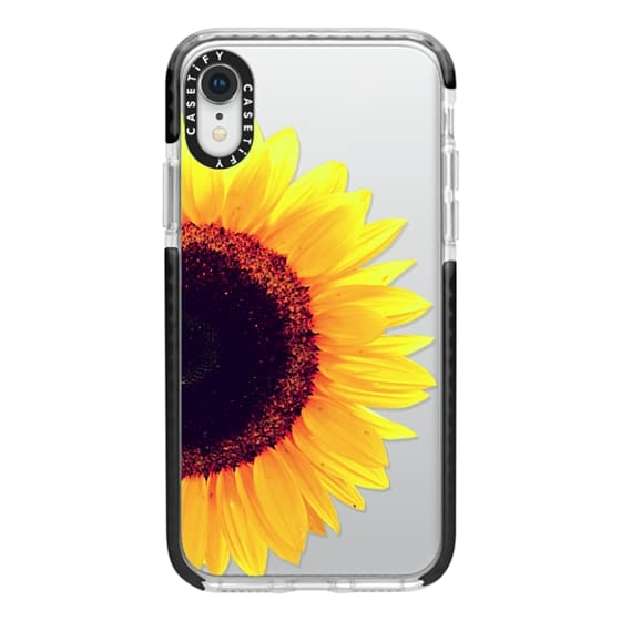 iPhone XR Cases - Bright Yellow Summer Sunflower Flowers on Transparent Background