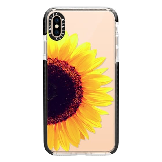 iPhone XS Max Cases - Bright Yellow Summer Sunflower Flowers on Transparent Background