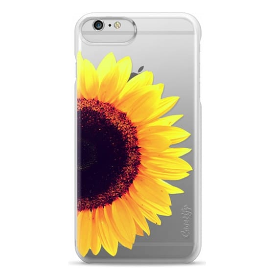 iPhone 6 Plus Cases - Bright Yellow Summer Sunflower Flowers on Transparent Background