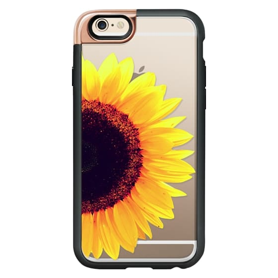 iPhone 4 Cases - Bright Yellow Summer Sunflower Flowers on Transparent Background