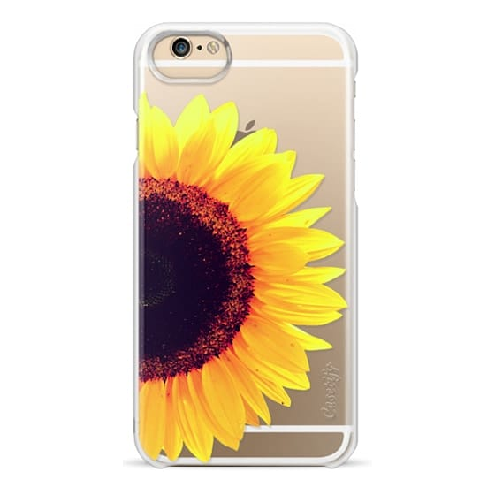 iPhone 6 Cases - Bright Yellow Summer Sunflower Flowers on Transparent Background