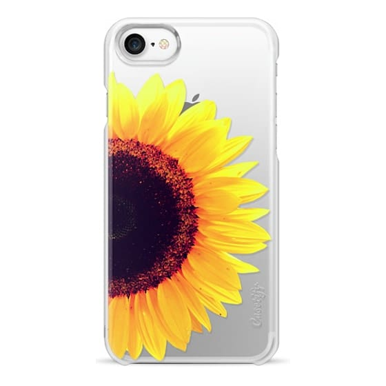 iPhone 7 Cases - Bright Yellow Summer Sunflower Flowers on Transparent Background