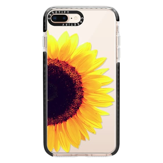iPhone 8 Plus Cases - Bright Yellow Summer Sunflower Flowers on Transparent Background
