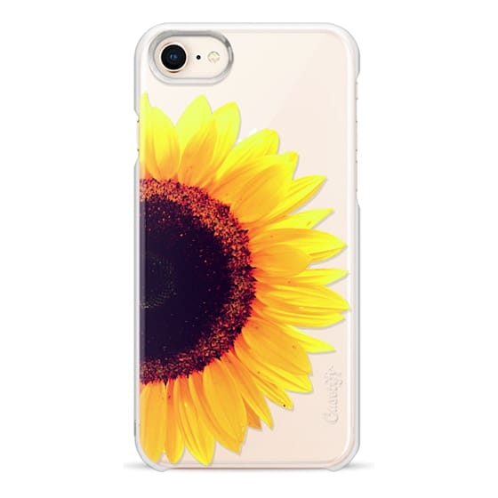 iPhone 8 Cases - Bright Yellow Summer Sunflower Flowers on Transparent Background