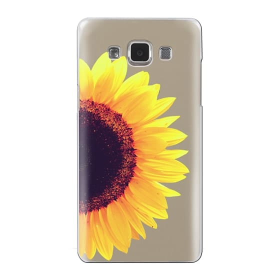 Samsung Galaxy A5 Cases - Bright Yellow Summer Sunflower Flowers on Transparent Background