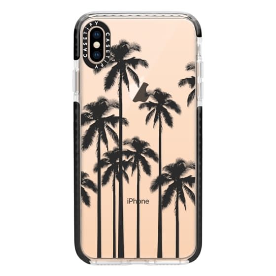 Impact Iphone Xs Max Case Black Summer Palm Trees On Transparent Background
