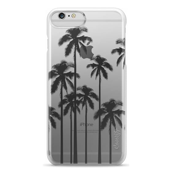 iPhone 6 Plus Cases - Black Summer Palm Trees on Transparent Background