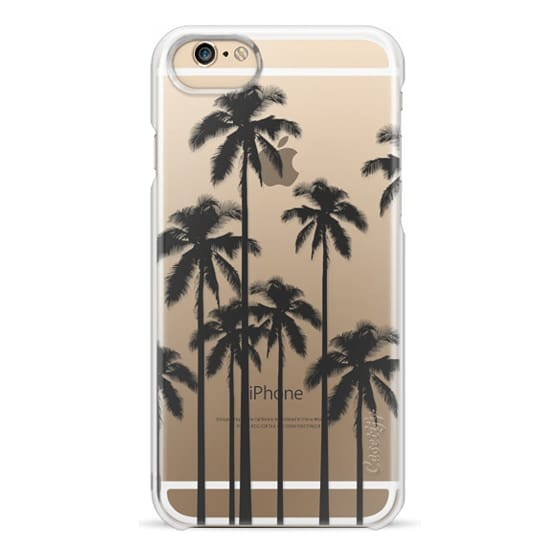 iPhone 6 Cases - Black Summer Palm Trees on Transparent Background