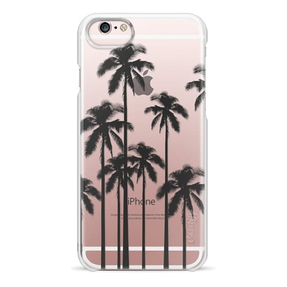 iPhone 6s Cases - Black Summer Palm Trees on Transparent Background