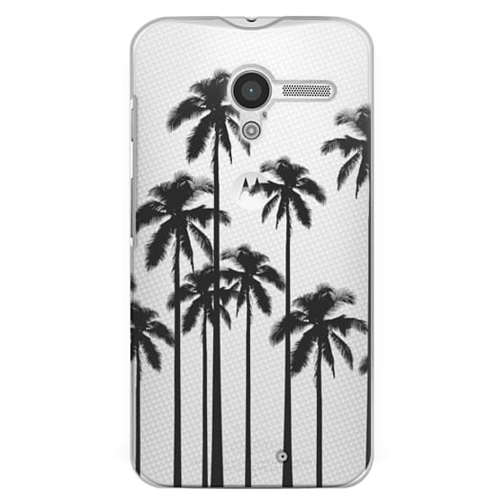 Moto X Cases - Black Summer Palm Trees on Transparent Background