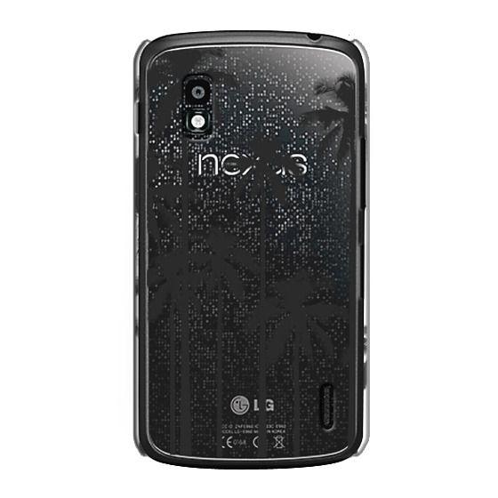 Nexus 4 Cases - Black Summer Palm Trees on Transparent Background