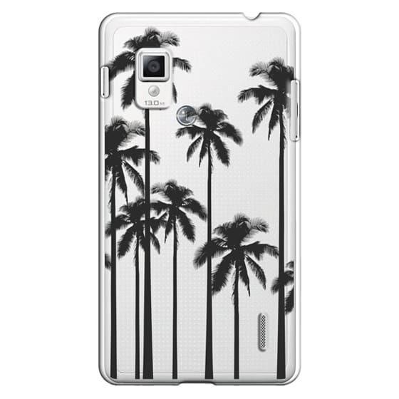 Optimus G Cases - Black Summer Palm Trees on Transparent Background