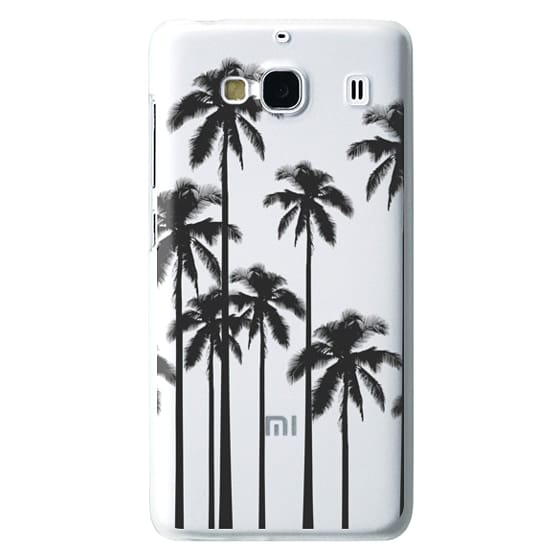 Redmi 2 Cases - Black Summer Palm Trees on Transparent Background