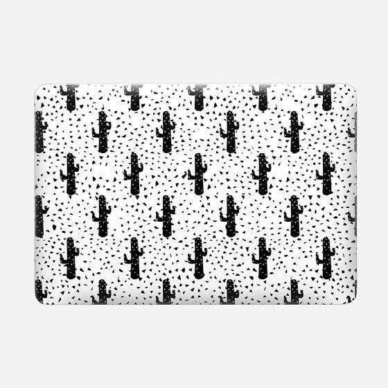 Trendy Modern Black Triangle Cactus Pattern -