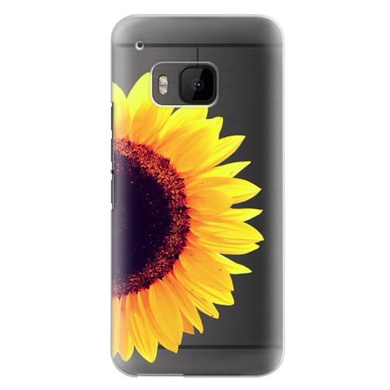 Htc One M9 Cases - Bright Yellow Summer Sunflower Flowers on Transparent Background