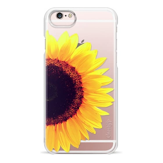 iPhone 6s Cases - Bright Yellow Summer Sunflower Flowers on Transparent Background