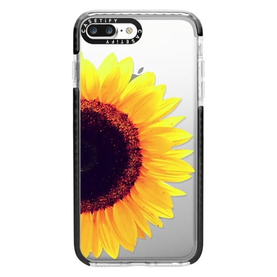 iPhone 7 Plus Cases - Bright Yellow Summer Sunflower Flowers on Transparent Background