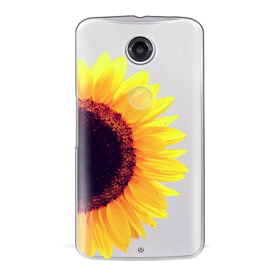 Nexus 6 Cases - Bright Yellow Summer Sunflower Flowers on Transparent Background