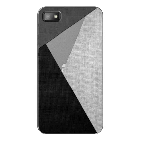 Blackberry Z10 Cases - Black, White, and Grey Tri-Cut Fabric