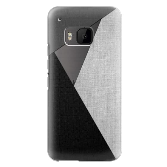 Htc One M9 Cases - Black, White, and Grey Tri-Cut Fabric