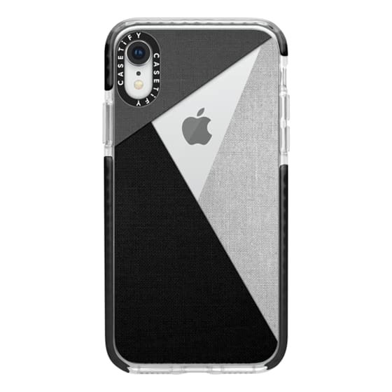 iPhone XR Cases - Black, White, and Grey Tri-Cut Fabric
