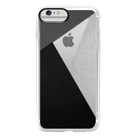 iPhone 6 Plus Cases - Black, White, and Grey Tri-Cut Fabric
