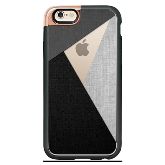iPhone 4 Cases - Black, White, and Grey Tri-Cut Fabric