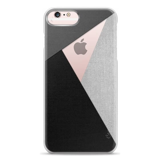 iPhone 6s Plus Cases - Black, White, and Grey Tri-Cut Fabric