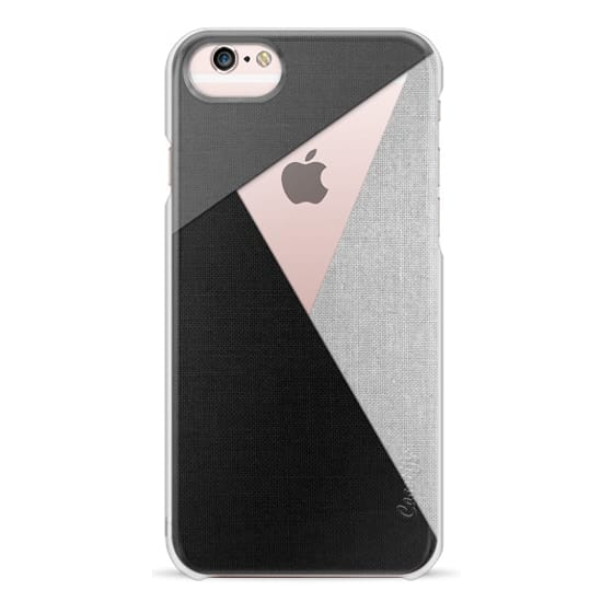 iPhone 6s Cases - Black, White, and Grey Tri-Cut Fabric