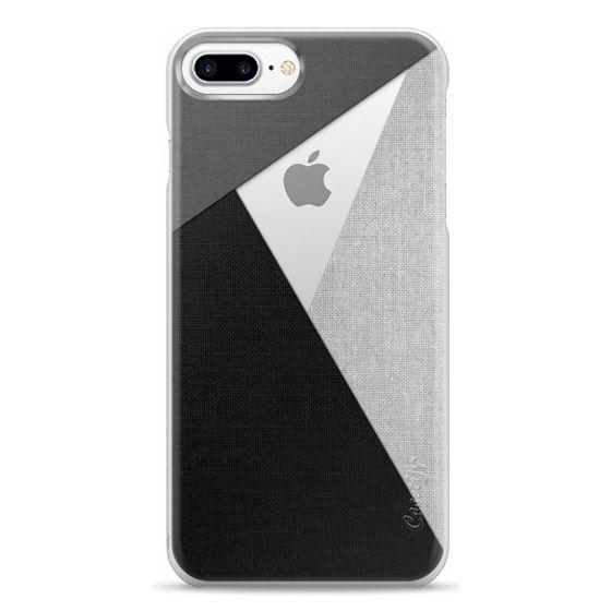 iPhone 7 Plus Cases - Black, White, and Grey Tri-Cut Fabric