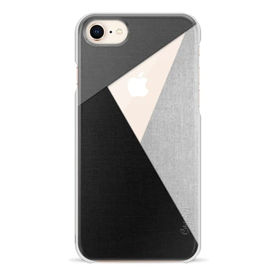 iPhone 8 Cases - Black, White, and Grey Tri-Cut Fabric