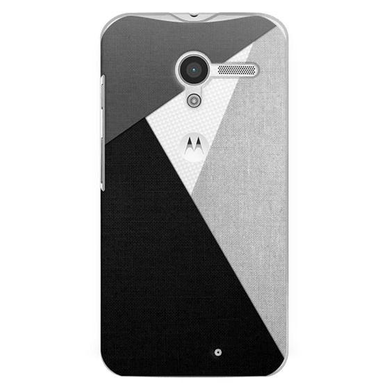 Moto X Cases - Black, White, and Grey Tri-Cut Fabric