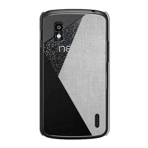 Nexus 4 Cases - Black, White, and Grey Tri-Cut Fabric