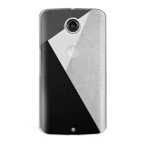Nexus 6 Cases - Black, White, and Grey Tri-Cut Fabric