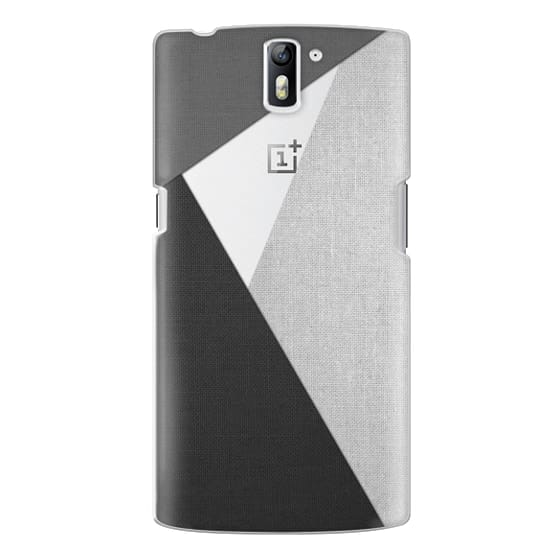 One Plus One Cases - Black, White, and Grey Tri-Cut Fabric