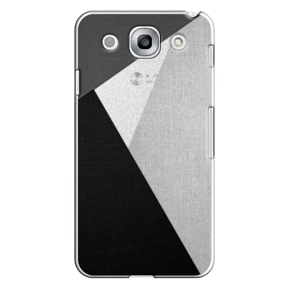 Optimus G Pro Cases - Black, White, and Grey Tri-Cut Fabric