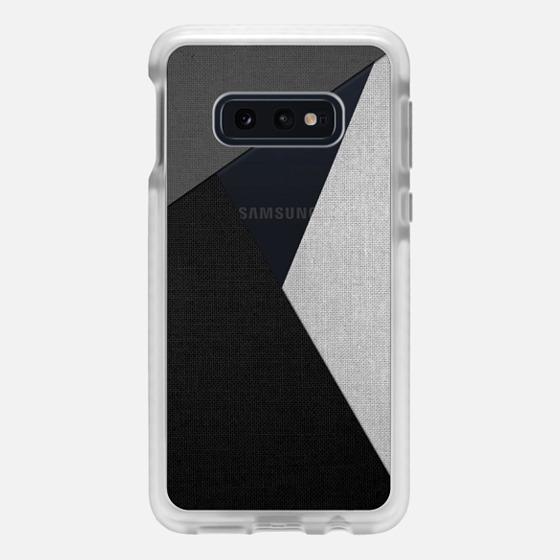 Samsung Galaxy / LG / HTC / Nexus Phone Case - Black, White, and Grey Tri-Cut Fabric