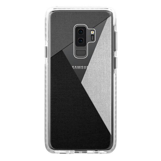 Samsung Galaxy S9 Plus Cases - Black, White, and Grey Tri-Cut Fabric