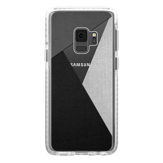 Samsung Galaxy S9 Cases - Black, White, and Grey Tri-Cut Fabric