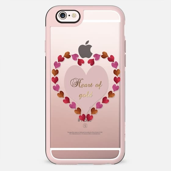 Heart of Gold in metal and glitter transparent case - New Standard Case